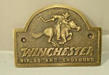 Winchester Rifles & Shotguns Rider Gambling Plaque Sign Western Lawman