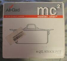 All-Clad 8 QT. Stock Pot With Lid, Master Chef 2, mc2.Open Box Never Used.