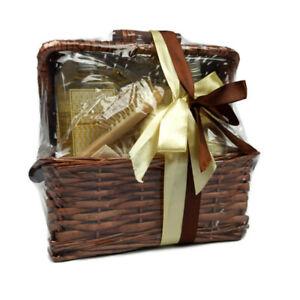 Bath Gift Basket Set: Body Wash Shampoo Bath Salts, Wood Comb, Slippers, More!