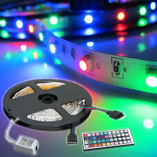 5M 3528 RGB Non Waterproof Strip 300 SMD LED Light +44Key IR Remote Controller