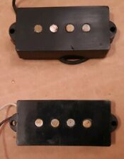 2 1974  Fender P bass guitar pickups vintage Precision bass gray bottom 70's