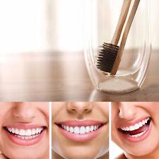 3Pcs Pure Natural Brosse à Dents Le Bambou Charbon de Bois Brosse à Dents