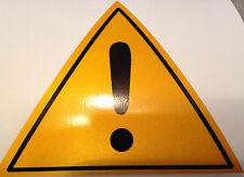 STICKER DANGER RETRO REFLECHISSANT SECURITE ENTREPRISES PICTOGRAMME VISIBLE NUIT