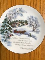 "Vintage American Greetings Christmas 1980 Porcelain Collectible Plate-Japan-8"""