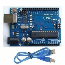 NEW GOOD ATmega328P CH340G UNO R3 Board & USB Cable for Arduino DIY LU
