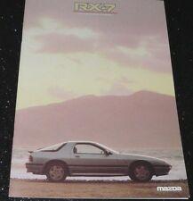 MAZDA RX-7 COUPE ORIGINAL BROCHURE 3/1986. RARE, EXCELLENT CONDITION