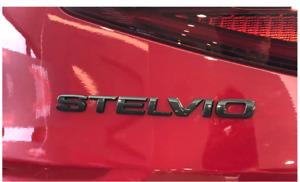 Alfa Romeo Stelvio Logo Emblem Sticker Boot Trunk Rear Badge Black
