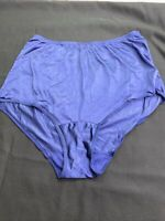 Vtg Vanity Fair Panties Sz 6 All Nylon Antron III Shiny Blue Lace Trim Granny