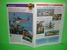 AEROSPATIALE AS 332 SUPER PUMA OIL RIG SUPPORT AIRCRAFT FACTS CARD AIRPLANE 46