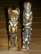 ancienne  paire statuettes art primitif african art african head