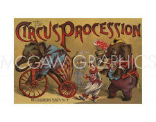 """VINTAGE REPRODUCTION-THE CIRCUS PROCESSION, 1888-ART PRINT POSTER 11""""X14"""" (1608)"""