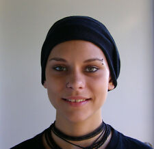 Black Head wraps Dreadband Hair Scarf Soft knitted Cotton