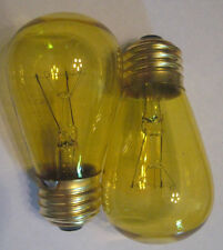 2 Transparent Yellow Marquee/Sign/Amusement Park/Party Light Bulb Standard Base
