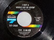 Joe Simon: I Got a Whole Lot of Lovin' / Yours Love  [Unplayed Copy]