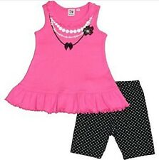 Girl Friends Pink & Black 2 Piece Set - Size: 3T                             H-9