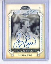 LARRY BIRD 2012 PRESS PASS LEGENDS HALL OF FAME EDITION AUTO AUTOGRAPH #1/1