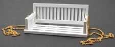 Dollhouse Miniatures 1:12 Scale Porch Swing, White #Cla74083