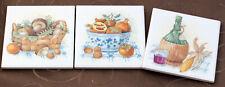 Dekorfliese Pilzkorb 10x10 als Küchenfliese im 3er Set Fliesedekore