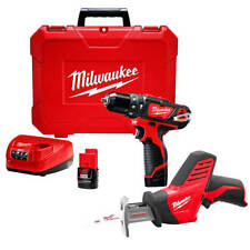 Milwaukee 2408-22H 12-Volt 3/8-Inch Hammer Drill and Saw Combo Kit