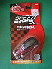 Die Cast Racing Champions 1932 Speedback Red 1.64 2003