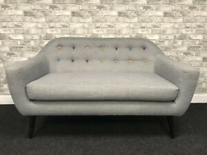 2 seater sofa snowdrop button back Gery chabby chic modern