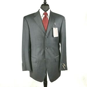Mens 50L Giorgio Cosani Regular Fit Solid Taupe Two Button Wool Suit