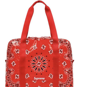 Supreme Bandana Tarp Small Duffle Bag RED SS21 WEEK 8 (IN HAND) AUTHENTIC/ NEW