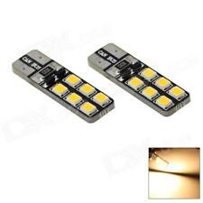 2 LED T10 Lámparas Can-bus 12 SMD 5630 Bianco No Error Luces Ubicación Xenón