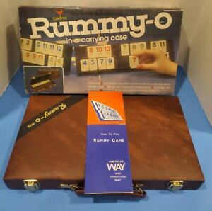 Vintage Cardinal Rummy-O Game, complete in carry case, Rummy tiles, Rummikub