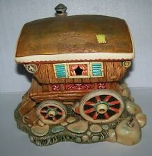 Vintage Pendelfin Gypsy Caravan England Stoneware - Used- Very Hard to Find