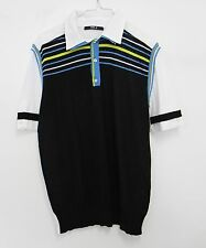 Maglia polo uomo righe collar shirt men stripes vintage mas_q firmata t-shirt XL