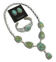 VTG Navajo Signed Artist Tall Hat .925 Silver & Turquoise Jewelry Set