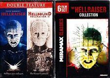 HELLRAISER 1,2,3,4,5,6,7,8 HORROR SAGA 8 FILMS CLIVE BARKER DVDS R1 1-8