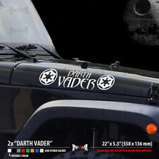 2x DARTH VADER EMPIRE LOGO JEEP CJ TJ YK JK Star Wars Car Vinyl Sticker Decal