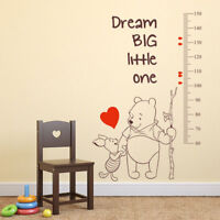Winnie the Pooh growth chart height measure vinyl kid room nursery wall sticker