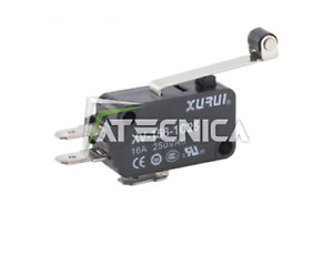 10pz Microswitch Microinterruptor Botón Micro Switch 250V 16A Palanca Rodamiento