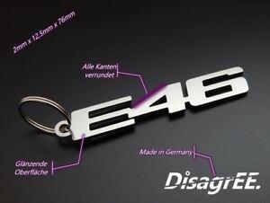 """Schlüsselanhänger """"E46"""" für BMW 3er 320 325 330i M3 M54 S54 - Edelstahl"""