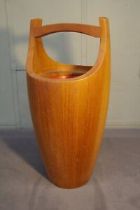 Vintage Original Mid-1950's Modern Jens Quistgaard Dansk Congo Teak Ice Bucket