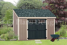 Shed Plans, 6' x 10' Deluxe Lean To Roof Style #D0610L, Free Material List