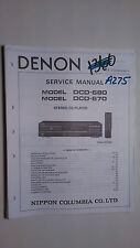 Denon dcd-680 670 service manual original repair book stereo cd player