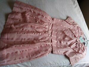 Kate Spade New York Madison Avenue Silk Adri Top New $448 w/Skirt 16 Pastry Pink