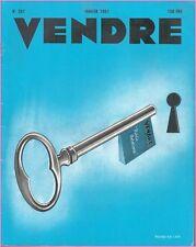 ▬►MARKETING PUBLICITÉ  -- VENDRE N° 251 (JANVIER 1951) --  COVER ROGER KELLER