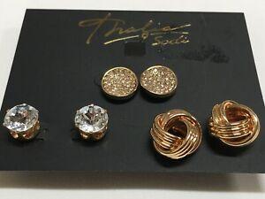 Oro Grueso Con textura de cuadrados de gota Aldaba Pendientes Mujer Joyería