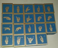 Uncle Goose American Sign Language Wooden Blocks 19 letters replacement