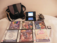 BLACK Nintendo DS Lite con 7 giochi, carica & custodia, Job Lotto, bundle.