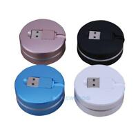2 in 1 USB Retractable Charger Fast Charging Data Sync Cable for iPhone Android