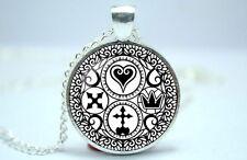 Kingdom Hearts - Ultimania Trinity Symbol - Photo Glass Dome Necklace Pendant