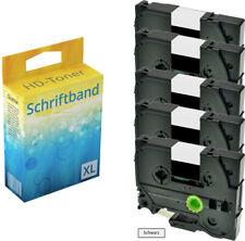 5x Farbband für Brother P-Touch 1000 1010 1080 1090 1230 PC1250 1280 TZ-231 ttp