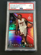 DWYANE WADE 2003 UPPER DECK #41 REFLECTIONS RUBY HOLO ROOKIE RC /500 PSA 9