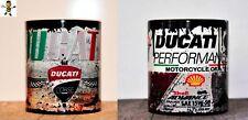 Premium Set Of 2 X Ducati Motorcycle Oil Can Mug Tea Coffee Mug